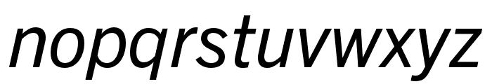 Trade Gothic Next LT Pro Condensed Italic Font LOWERCASE
