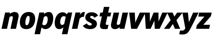 Trade Gothic Next LT Pro Heavy Condensed Italic Font LOWERCASE
