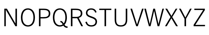 Trade Gothic Next LT Pro Light Font UPPERCASE
