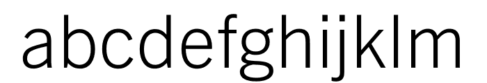 Trade Gothic Next LT Pro Light Font LOWERCASE