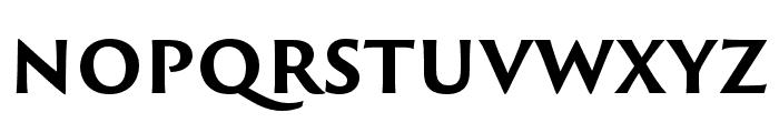 Trajan Sans Pro Bold Font LOWERCASE