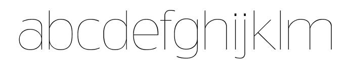 TruthFB Thin Font LOWERCASE