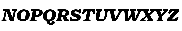 Turnip Black Italic Font UPPERCASE