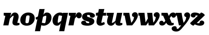 Turnip Black Italic Font LOWERCASE