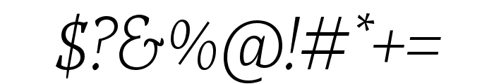Tzimmes ExtraLight Italic Font OTHER CHARS
