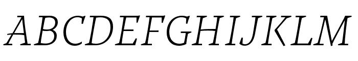 Tzimmes ExtraLight Italic Font UPPERCASE