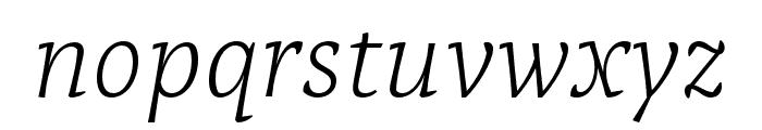 Tzimmes ExtraLight Italic Font LOWERCASE