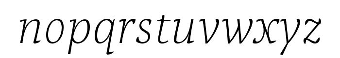 Tzimmes SemiBold Italic Font LOWERCASE