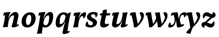 Tzimmes UltraBold Italic Font LOWERCASE