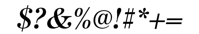 URW Antiqua Extra Narrow Medium Oblique Font OTHER CHARS