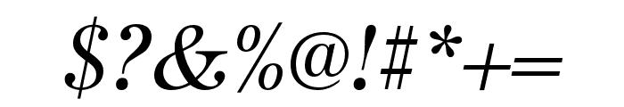 URW Antiqua Extra Narrow Regular Oblique Font OTHER CHARS