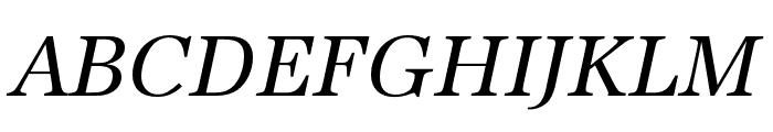 URW Antiqua Extra Narrow Regular Oblique Font UPPERCASE