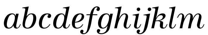URW Antiqua Extra Narrow Regular Oblique Font LOWERCASE