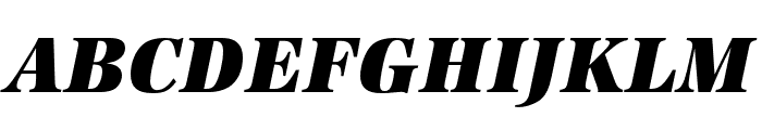URW Antiqua Extra Narrow Ultra Bold Oblique Font UPPERCASE