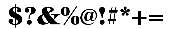 URW Antiqua Extra Wide Extra Bold Font OTHER CHARS