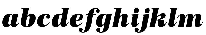URW Antiqua Extra Wide Ultra Bold Oblique Font LOWERCASE