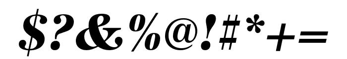 URW Antiqua Narrow Bold Oblique Font OTHER CHARS