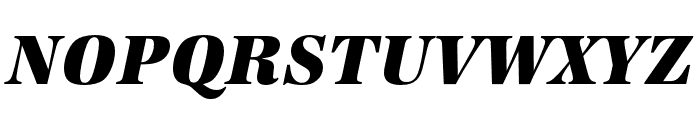 URW Antiqua Narrow Extra Bold Oblique Font UPPERCASE
