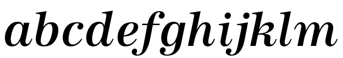 URW Antiqua Narrow Medium Oblique Font LOWERCASE