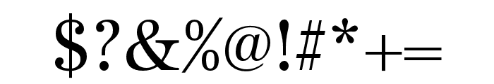 URW Antiqua Narrow Regular Font OTHER CHARS