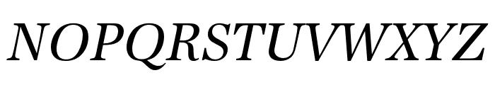 URW Antiqua Regular Oblique Font UPPERCASE