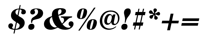 URW Antiqua Wide Extra Bold Oblique Font OTHER CHARS