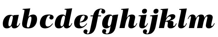 URW Antiqua Wide Extra Bold Oblique Font LOWERCASE