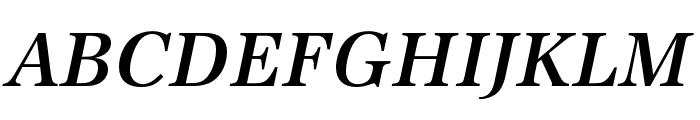 URW Antiqua Wide Medium Oblique Font UPPERCASE