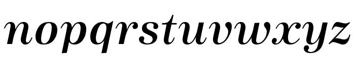 URW Antiqua Wide Medium Oblique Font LOWERCASE