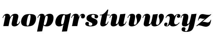 URW Antiqua Wide Ultra Bold Oblique Font LOWERCASE