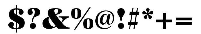 URW Antiqua Wide Ultra Bold Font OTHER CHARS