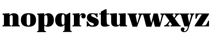 URW Antiqua Wide Ultra Bold Font LOWERCASE