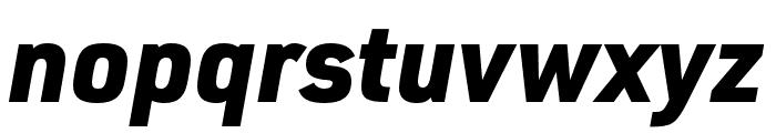 URW DIN Cond Black Italic Font LOWERCASE
