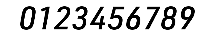 URW DIN Cond Medium Italic Font OTHER CHARS