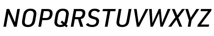 URW DIN Cond Medium Italic Font UPPERCASE