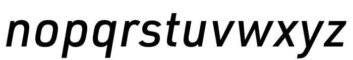 URW DIN Cond Medium Italic Font LOWERCASE