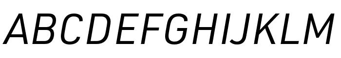 URW DIN Regular Italic Font UPPERCASE