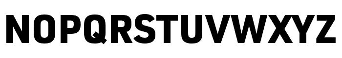 URW DIN SemiCond Black Font UPPERCASE