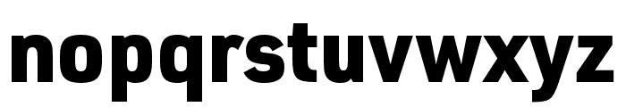 URW DIN SemiCond Black Font LOWERCASE