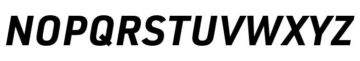 URW DIN SemiCond Bold Italic Font UPPERCASE