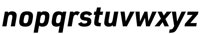 URW DIN SemiCond Bold Italic Font LOWERCASE