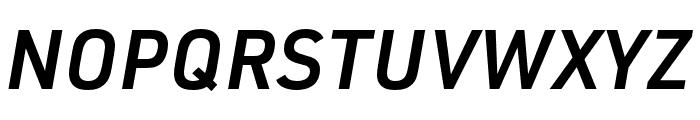 URW DIN SemiCond Demi Italic Font UPPERCASE