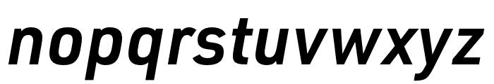 URW DIN SemiCond Demi Italic Font LOWERCASE