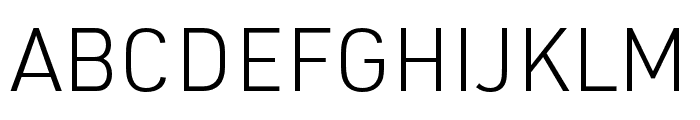URW DIN SemiCond Light Font UPPERCASE