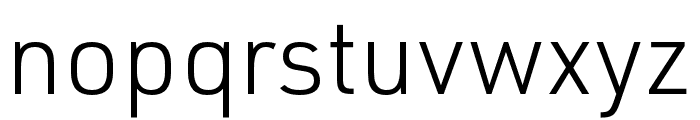 URW DIN SemiCond Light Font LOWERCASE