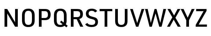 URW DIN SemiCond Medium Font UPPERCASE