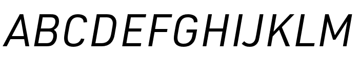 URW DIN SemiCond Regular Italic Font UPPERCASE