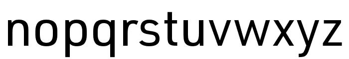 URW DIN SemiCond Regular Font LOWERCASE