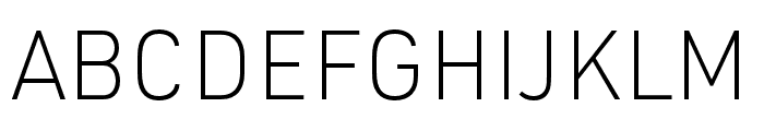 URW DIN SemiCond XLight Font UPPERCASE