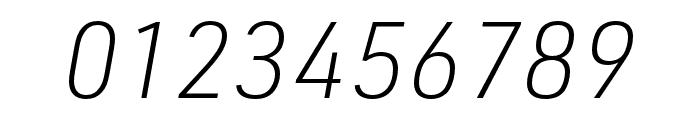 URW DIN XLight Italic Font OTHER CHARS